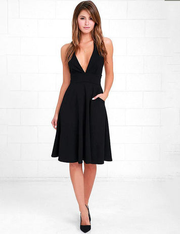 women sexy v-neck homecoming dress