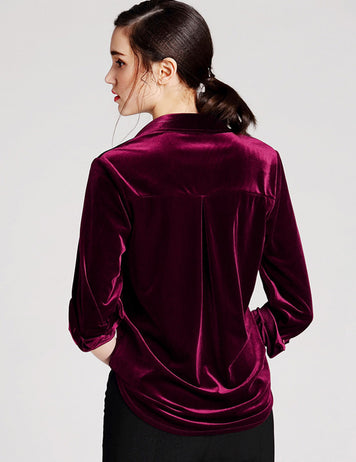 Velvet Long Sleeve Work Shirt