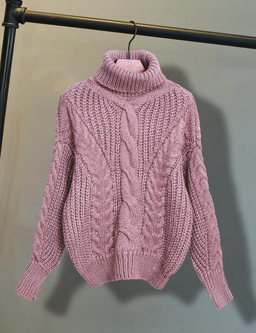 Autumn New Lapel Neck Long Sleeve Casual Warm Sweater