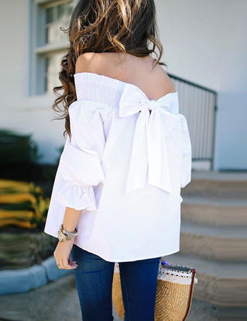 Off Shoulder Bandage Blouse