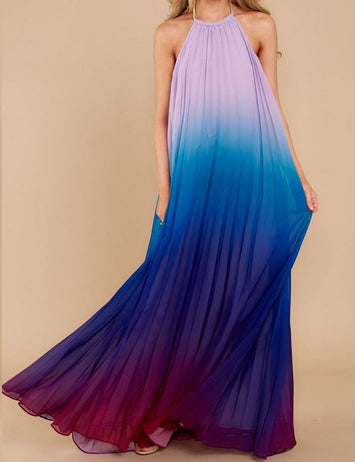 backless halter dress