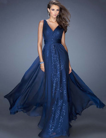 Sequin Backless Evening Party Prom Bridesmaid Homecoming Maxi Dress