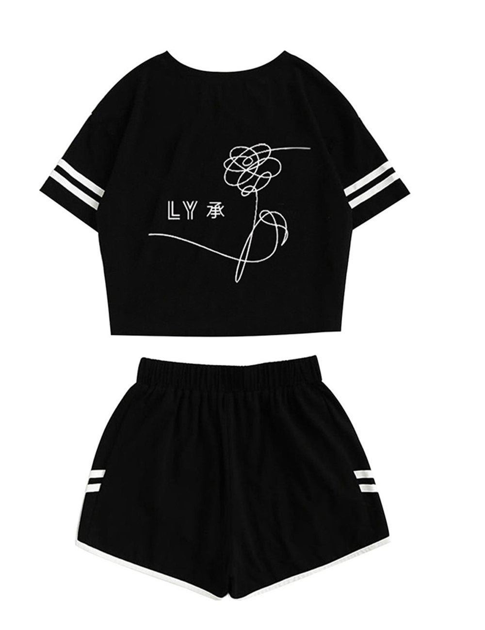 bts love yourself shirt and shorts suit