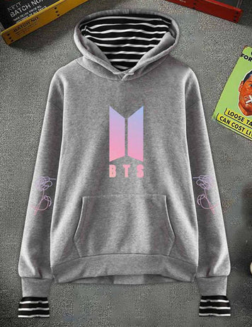 BTS Bangtan Boys Striped Pullover Love Yourself Answer Hoodies