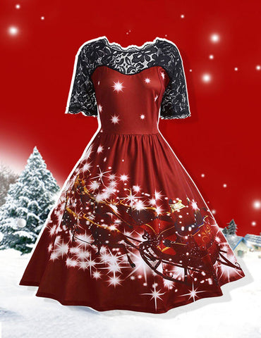 fashionable christmas eve party dress