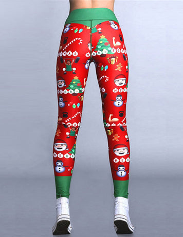 sporty christmas leggings