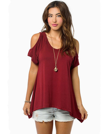 cold shoulder t shirt