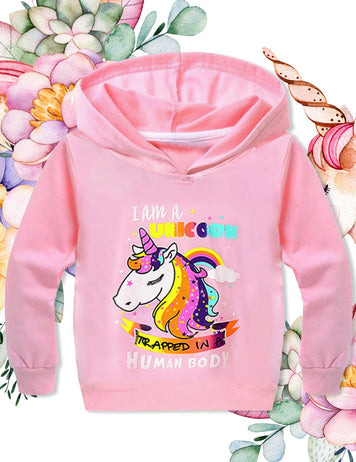 unicorn face printed long sleeve shirt shopping online