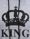 king printed couple hoodie
