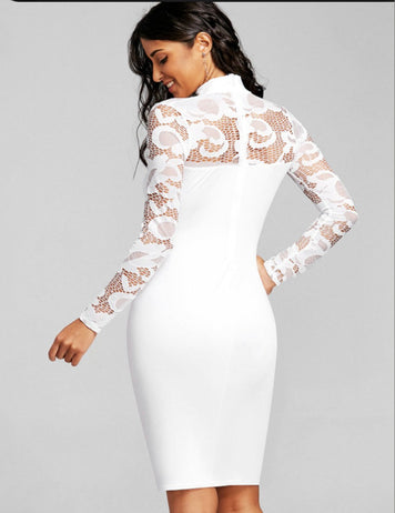 lace applique party dress