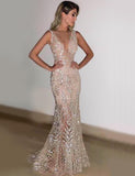 Sliver Mermaid Sequin Party Dress