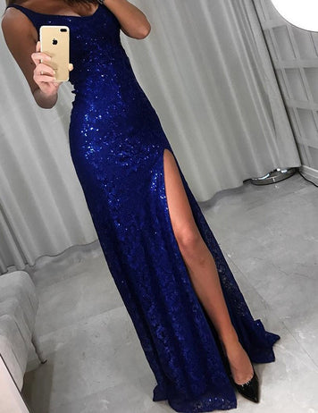 slit leg party dress
