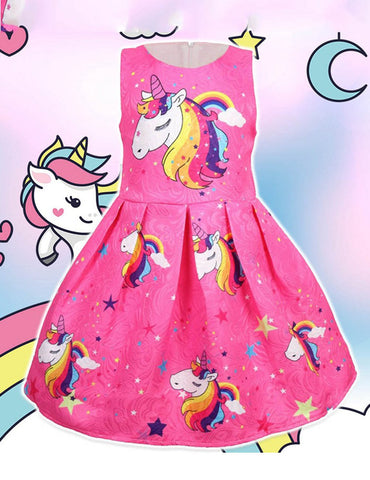 unicorn kids birthday christmas dress