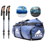 EBC Hiking Bundle (90L Duffel + Trekking Poles + 2x Neck Warmers)