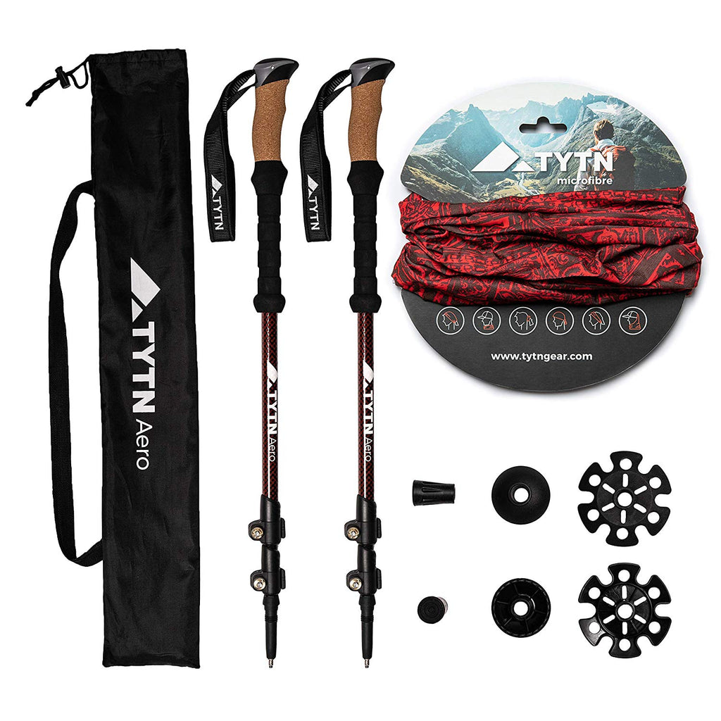 Aero Trekking Poles – Lightweight Aluminium 7075 Quick-Lock, Nordic Style for Hiking, Trekking & Outdoor Pursuits