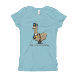 Security Llama Girl's T-Shirt