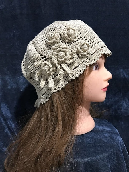 Pure handmade fashion crochet knitting hat style#1007