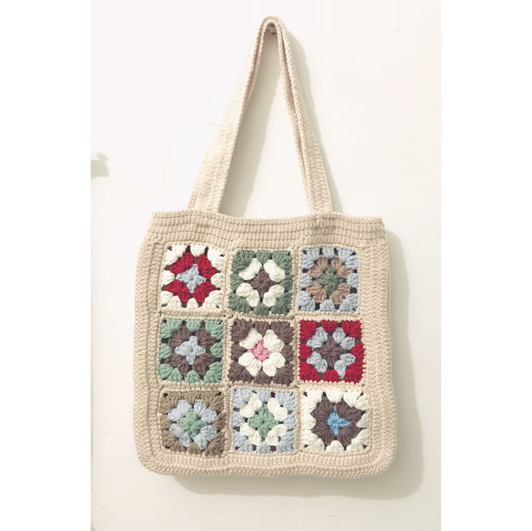 Pure handmade Simplified forest pure handmade women's crochet shoulder bag