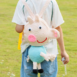 Pure handmade cute little piggy crochet chilren's backpack