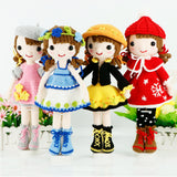 Pure handmade seasons different style crochet dolls