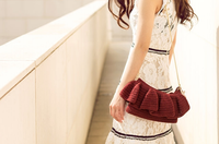 Shereo's crochet pattern+video tutorial of Simple pure color flouncing shoulder bag