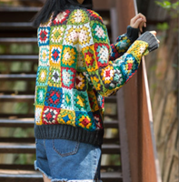 Shereo's crochet pattern+video tutorial of granny square jacket