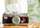 Shereo's crochet pattern+video tutorial of funny creative style tissue container