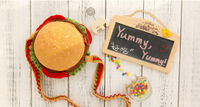 Shereo's crochet pattern+video tutorial of yummy hamburger and Sandwich shoulder bag for kids