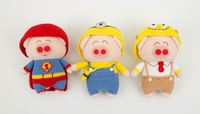 Shereo's crochet pattern of Anime Piggies dolls Series---Superman, Minion, SpongeBob Piggies