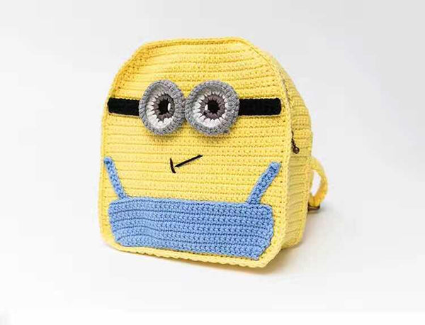 Pure Handmade kid's (1-6 years old kids) animation character cute crochet backpack