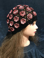 Pure handmade fashion colorful flowers jointed crochet knitting hat #1010