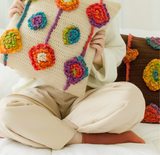 Shereo's crochet pattern of Indian style pillowcase