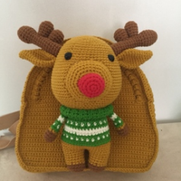 Shereo's crochet pattern+video tutorial of kid's animals series crochet backpack