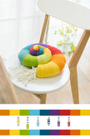 Shereo's crochet pattern+video tutorial of rainbow conch hold pillow