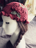 Pure handmade embroidery stringy selvedge Crochet hat