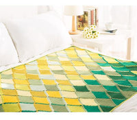 Shereo's crochet pattern+video tutorial of colorful glaze blanket