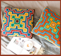 Shereo's crochet pattern of Aztec style pillowcase