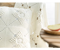 Shereo's crochet pattern+video tutorial of white relief blanket