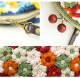 Shereo's crochet pattern+video tutorial of retro flowers crochet women's clasp should bag
