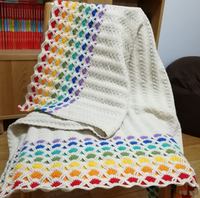Shereo's crochet pattern+video tutorial of rainbow and candy blanket