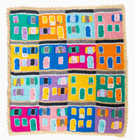 Shereo's crochet pattern+video tutorial of colorful towns blanket