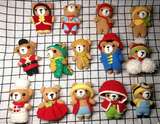 Shereo's crochet pattern of creative changing clothes little bears