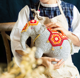 Shereo's crochet pattern+video tutorial of mascot elephant decoration doll