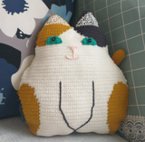 Shereo's crochet pattern of love cat hold pillow