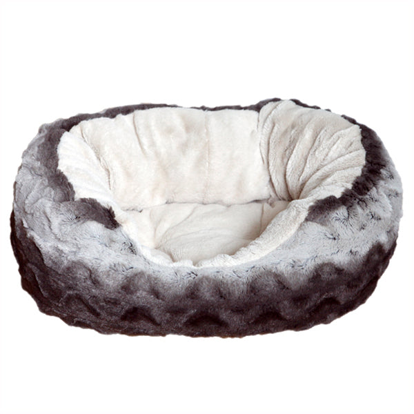 Grey and Cream Snuggle Plush Oval