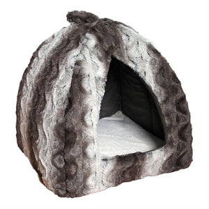 Snuggle Plush Pyramid Bed