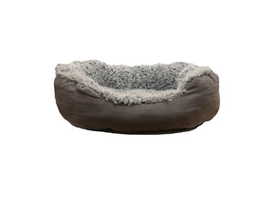 Faux Suede Oval Bed