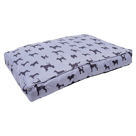 Padded Dogs Print Grey Mattress