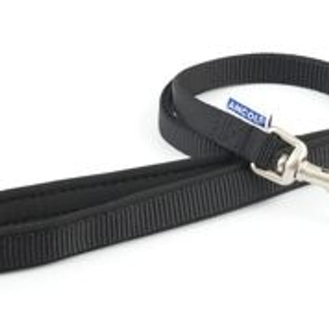 Padded Nylon Lead - Black