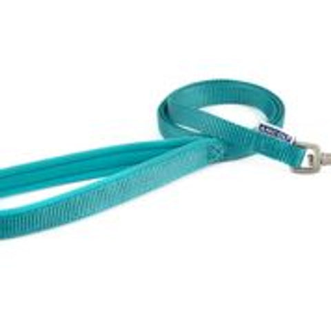 Padded Nylon Lead - Teal
